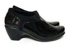 Naot Gleam Booties Slip on Wedge Shoes Black Leather Women's 6 6.5 M EUR 37