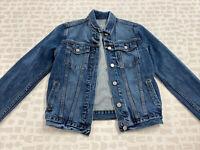 Gap Women Blue Medium Wash Fall Casual Button Up Denim Jacket Size Small