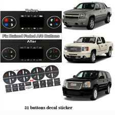 2 Sets GM GMC Chevy AC Button Repair Kit Vinyl Decal Stickers Dash Replacement