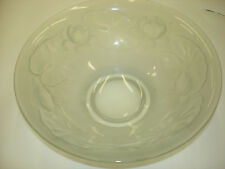 Antique 1 pcs Water Lily & Pods R. Lalique Crystal Large Bowl Good Condition