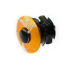 "Circus Monkey 1-1/8"" Bike Bicycle Cycling Top Cap Headset + Star Washer - Orange"