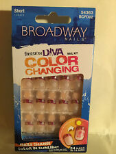 **LOOK** 2 Packs of Broadway Diva Color Changing Nails #54363 BCFD02 (Sunrise)