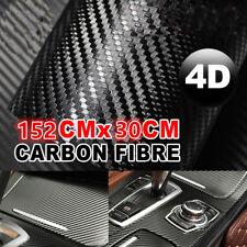 "Gloss Black 4D Carbon Fiber 12""x60""  Vinyl Car Phone Laptop Wrap Sticker Film"