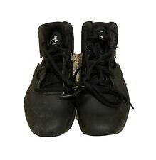 Under Armour-Youth Basketball Shoes-Black/White 3Y