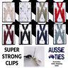 Men's / Boy's Braces - X Back, Regular or Large Suspenders 2.5cm Mens Boys