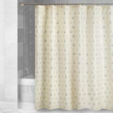 Fabric Shower Curtain Gold Shells on Ivory Beach Summer House Cottage Coastal