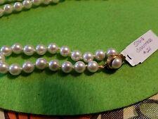 "PREMIER DESIGNS Countess Pearl Necklace  gold filigree clasp 30"""