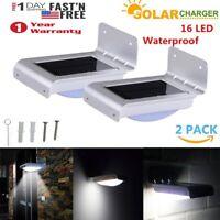 2XSolar Power Motion Sensor Garden Security Lamp 16 LED Outdoor Waterproof Light
