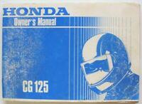 Honda CG125 post 1985 #MPKY0911UK Motorcycle Owners Handbook Multilingual