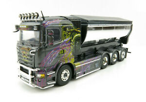 Tekno 75065 Scania R-serie Truck 4axle with Hookarm & Container Gahne Akeri 1:50