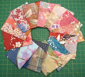 Stash Builder! PRE-WASHED Cotton Sateen Asian Fabric Fat Quarters from Japan