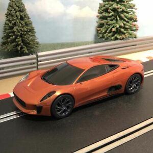 Scalextric 1:32 Car - C1336 Orange Jaguar C-X75 James Bond Spectre *LIGHTS* #AM