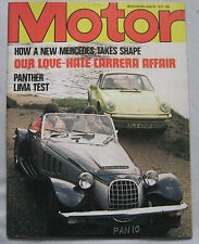 Motor magazine 25/6/1977 featuring Panther Lima road test, Porsche Carrera