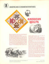 #93 13c American Quilts #1745-1748 USPS Commemorative Stamp Panel