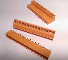 10 x Pluggable Terminal Block 5.08mm PCB Mounting 15 Pole Vertical Weidmuller