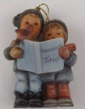 Berta Hummel Christmas Ornament, Heavenly Trio, 1997 With COA Goebel Collectible