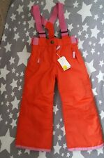 boden ALL-WEATHER WATERPROOF TROUSER  2-3 years GIRLS BRACES REMOVEABLE PINK
