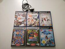 PS2 6 Eye Toy Spiele + Kamera SILBER *getestet* funktionsfähig
