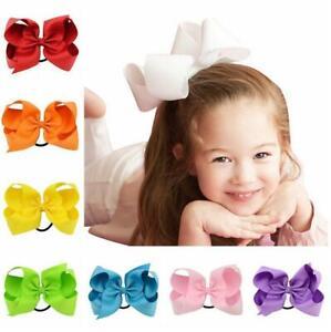 """2"""",3"""", 4"""", 5"""", 6"""" Grosgrain Ribbon Bow Hair Elastic Ponytail Hair Band Bobble"""