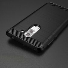 For Huawei Honor 6X Carbon Fibre Gel Case Cover & Glass Screen Protector