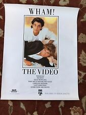 """GEORGE MICHAEL WHAM  The Video  rare promotional poster  22""""x28"""""""