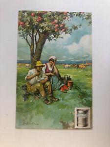 Cartolina Pubblicitaria Brodo Triplo Ricostituente Contadini c13