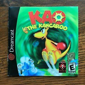 Kao The Kangaroo Sega Dreamcast Instruction Manual Only