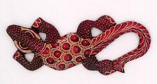 Gecko margouillat salamandre lézard en bois et batik art Java Indonésie N°6 67d9422afbe