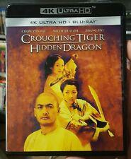 Crouching Tiger Hidden Dragon 2000 4K Uhd + Blu-Ray Like-New Oop No Digital