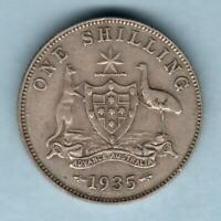 Australia. 1935 Shilling..  VF/gVF - Trace Lustre & Full Centre Diamond