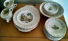 Vintage American Limoges Chateau France 26 Dish Set 22 K Gold 1K-S518