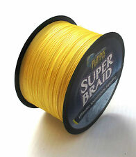 Platypus SUPER BRAID 80lb/500yds (dia 20lb) Yellow