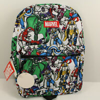 Marvel Comics Avengers backpack School Book Bag Kids Bioworld Adjustable Straps