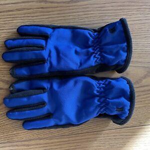 Isotoner Unisex Adult Size Medium Winter Gloves Blue