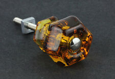 """Root Beer Color Vintage Glass Knob ~ Drawer Pull Handle { 1 1/4"""" Dia. } by PLD"""