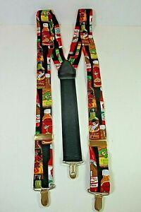 "Vintage PELICAN ""HOT SAUCE"" Suspenders Braces Clip On Fittings XLNT Cond"