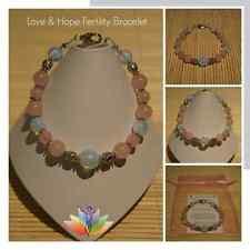 1 Fertility Love HOPE Rose Quartz/Moonstone Pregnancy Bracelet IVF TTC Hormones