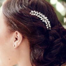 Epingle à Cheveux Pin Long Doré Blé Cristal Retro Mariage FJ3