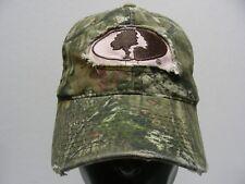 MOSSY OAK - CAMOUFLAGE - PINK LOGO - ONE SIZE ADJUSTABLE STRAPBACK BALL CAP HAT