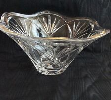Marquis Waterford crystal bowl 8.5 inch wide with  fluted edges