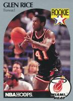 Glen Rice 1990-91 NBA Hoops #168 Miami Heat Basketball Card