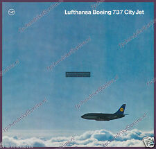 OLD LUFTHANSA BOEING 737-100 BROCHURE - ENGLISH 8 PAGES, SEAT MAP ± 1968, MINT