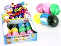 POP BALL 55MM 3 PCS SWIRLY COLOURS SUPER DOME POPPER PUSH FLY NOVELTY TOY KIDS