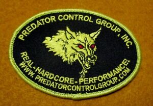 Sew Iron On Patch Predator Control Group Inc Real Hardcore Performance WWW