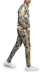 MEN'S Floral Tiger Track Pants & Jacket Jogging Track Suit Set  S~5X   ST559
