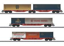 Märklin HO 47810 Container-Tragwagen-Set Vorbild: Ein 6-achsiger Doppel-Containe