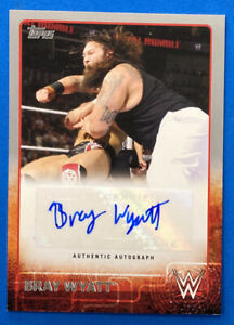 2015 Topps WWE Bray Wyatt SP Silver Parallel Autograph Card