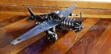 Welded Metal Airplane plane sculpture Art By Artist steampunk welderartist
