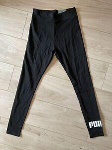 Puma Women's Black Skinny Stretch Leggings, S (8-10)