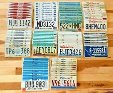 Set of 100 License Plates- 10 of Each State in Craft Condition